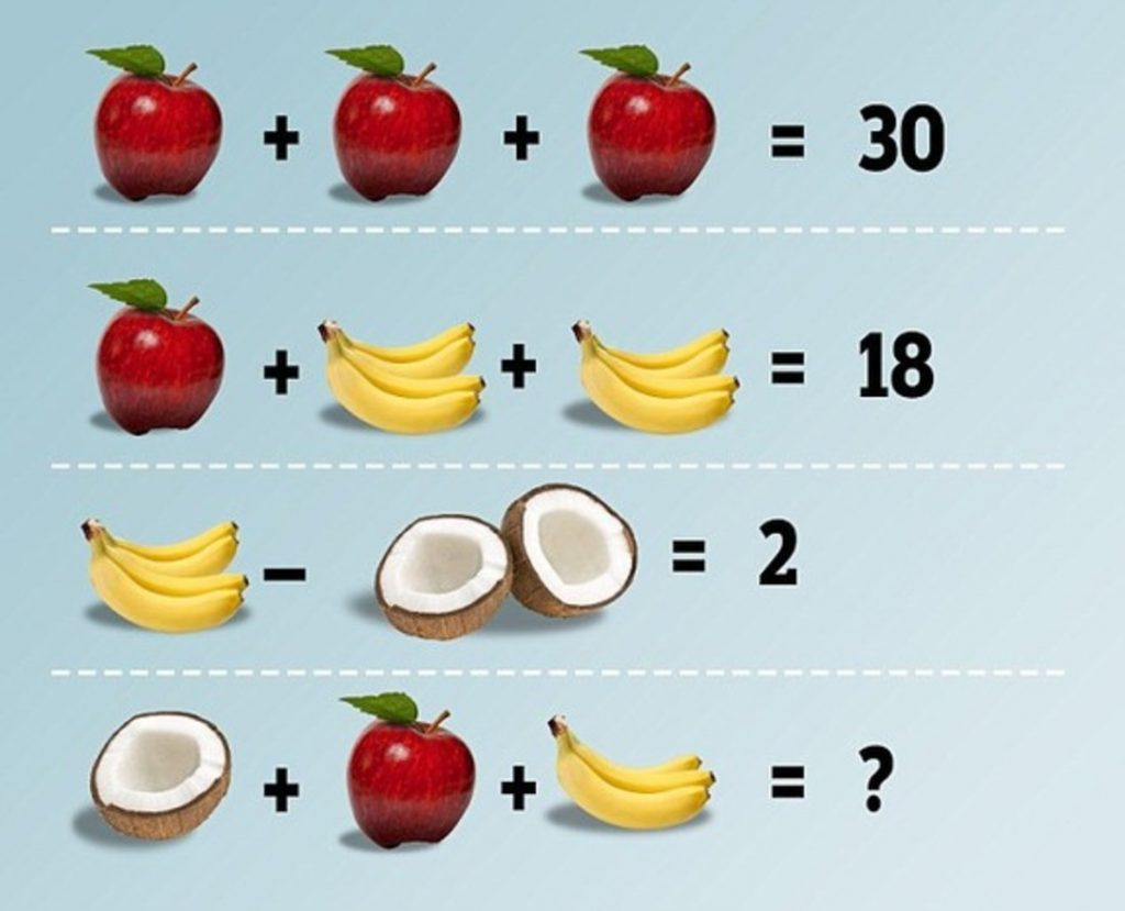загадка с фруктами на картинке нескучных будней, чтобы